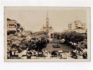 Cartao Postal Fotografico Pça Rui Barbosa Uberaba - Anos 50