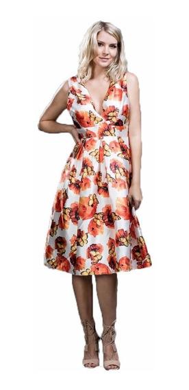 Vestido Midi Ark & Co. Con Estampado De Mariposas