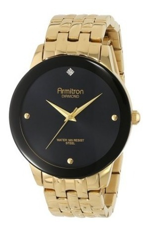 Relógio Armitron Masculino Com Diamante 4952/bkgp