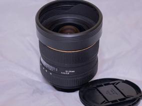 Lente Sigma Dg Hsm Ex 12mm-24mm F4.5-f5.6 Perfeita100% Nikon