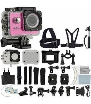 Câmera Rosa Digital Sports Filmadora Hd Prova D