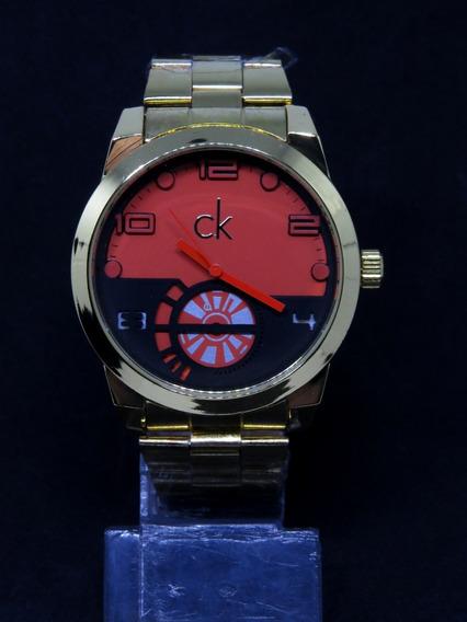 Relógio Ck Zeus Dourado Serie Gold Masculino Barato Original