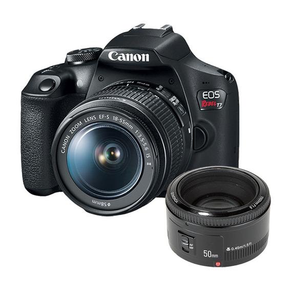 Câmera Canon T7 + Lente 18-55mm + Lente 50mm 1.8 Yongnuo