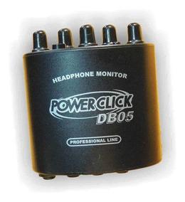 Amplificador Fone Ouvido Power Click Db 05 Com Fonte