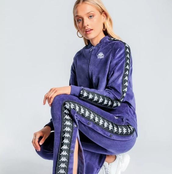 Pantalon Kappa Authentic De Plush Violeta Con Botones !