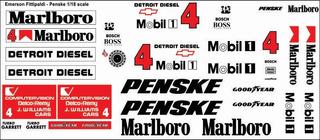 Decalques Completos Para Penske Teste Senna 1993 Escala 1/18