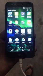Celular LG K10 A Tela Está Com Manchas E Boquinha Queimada