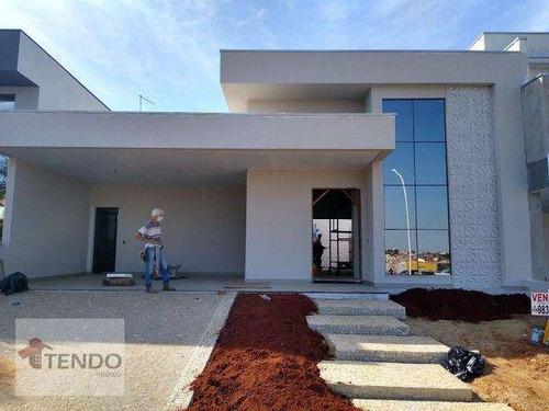 Imagem 1 de 16 de Imob02 - Casa 200 M² - Venda - 3 Dormitórios - 3 Suítes - Condomínio Maria José - Indaiatuba/sp - Ca0677