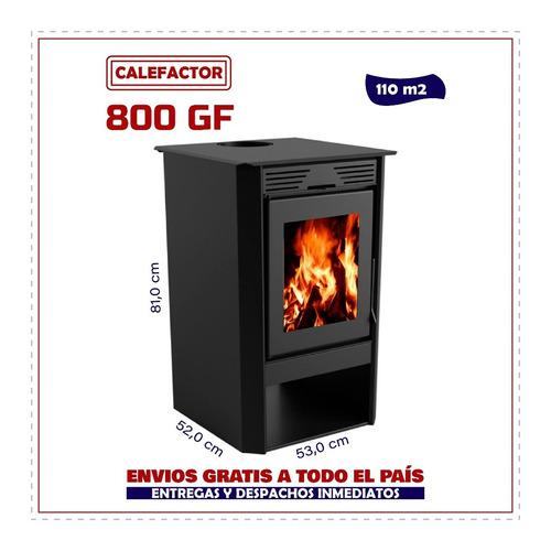 Imagen 1 de 6 de Calefactor Ecológico Doble Combustion Liv 800gf - La Kazona