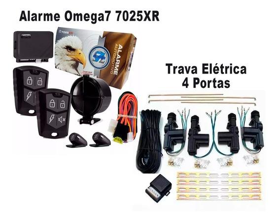 Alarme Omega 7 7025xr Completo + Trava Elétrica 4 Portas