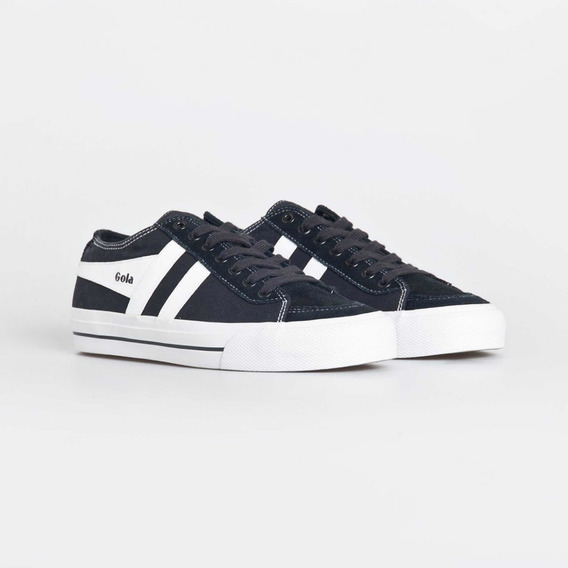 Zapatillas Gola Modelo Quota Lll Color Negro Con Blanco
