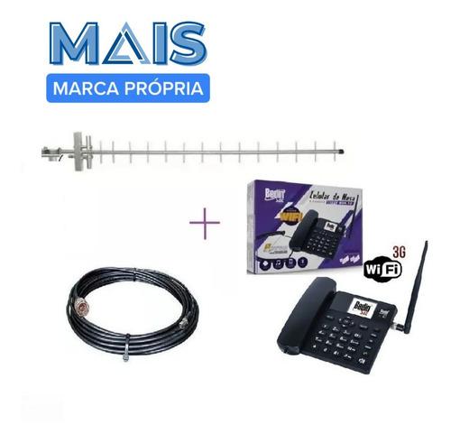Kit Completo Internet Rural Sem Fio Telefone 3g Com Roteador
