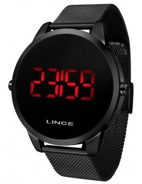 Relógio Lince Preto Digital Unisex Ref: Mdn4586l Pxpx N.f