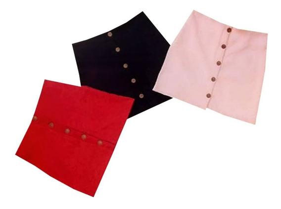 Falda Para Dama Corta Diseño Botones Pr.s