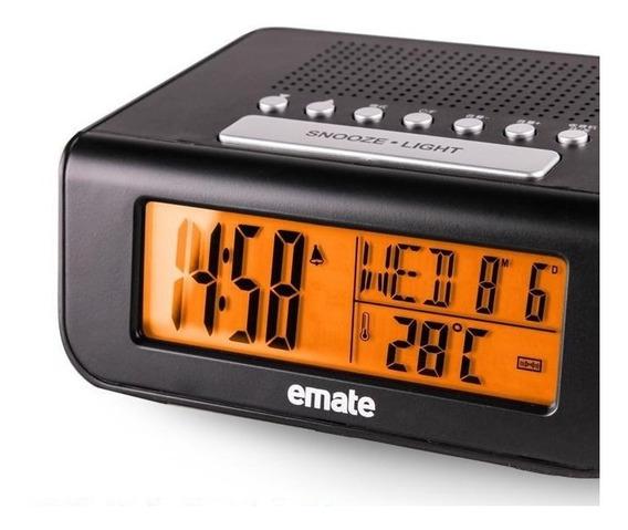 Rádio Relógio Despertador Alarme Fm Digital Emate Importado