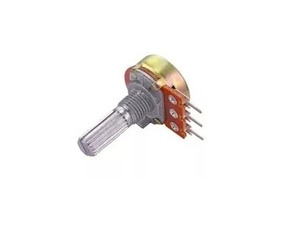 Potênciometro 250k A Log - Eixo L20 Estriado - Kit Com 5