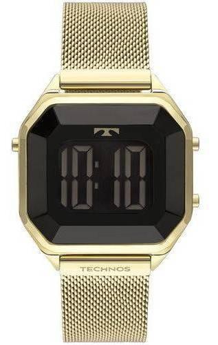 Relógio Technos Crystal Feminino Preto Bj3851aj 4p