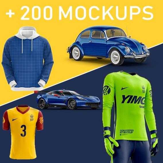 Promocão Mockups Yellow / Mais 200 Mockups Varias Categorias