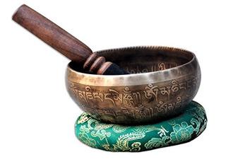 5 Mantra Tallado Buda Cuenco Tibetano, Martillado A Mano...