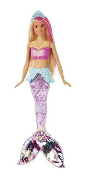 Boneca Barbie Sereia Brilhante Gfl82 Mattel - Rosa