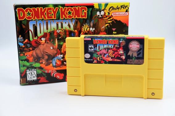 Jogo Donkey Kong Country Super Nintendo Com Caixa E Berço