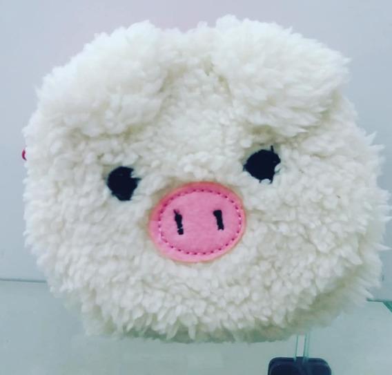 Bolsa De Pelúcia Porca Porquinha Bolsa Acolchoada Pig Porco