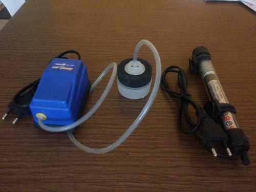 Imagen 1 de 2 de Termostato Sobo Y Filtro C/esponja Para Pecera