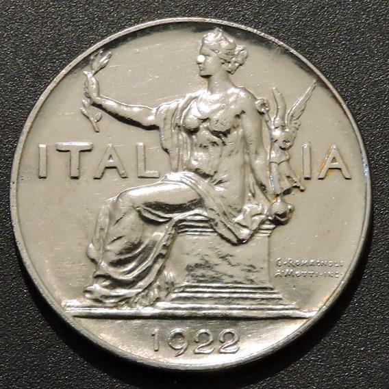 Italia 1 Lira 1922 Período Vittorio Emanuele 3º