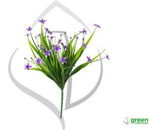 Vegetación Artificial Orquídea Morada Greenwarehouse 10 Pzas