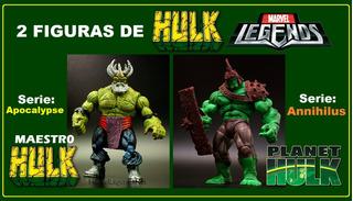 2 Figuras De Hulk: Marvel Legends. Originales E Impecables.