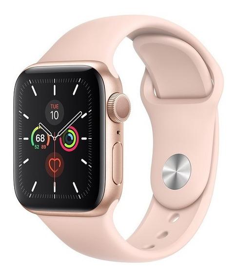Apple Watch Série 5, Alumínio, Pulseira Sport Rosa 40mm