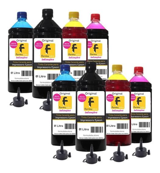 Kit 8 Litros Tinta Epson Impressora L355 L365 L375 L395 L396