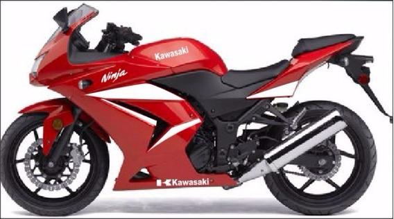 Kit Adesivo Kawasaki 250r Branco