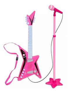 Guitarra Microfono Pie Rosa Musica Nena Toy New125b Bigshop