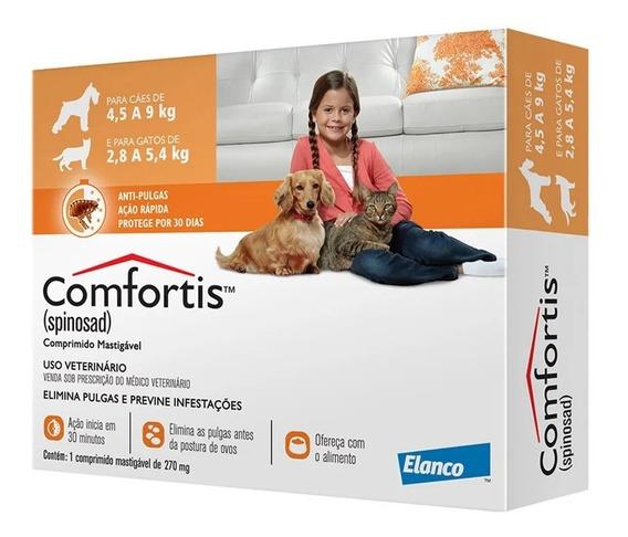 Antipulgas Comfortis Gatos 270 Mg 2,8 A 5,4kg 1 Comprimido