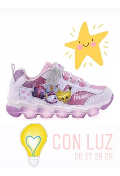Zapatilla Shopkins Con Luz, Shx 601 26 Al 29