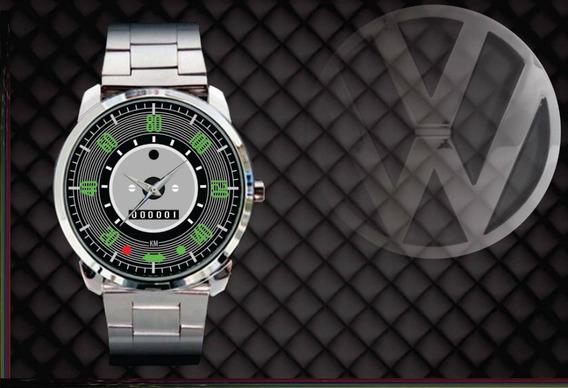 Relógio De Pulso Personalizado Painel Vw Fusca 140km Antigo