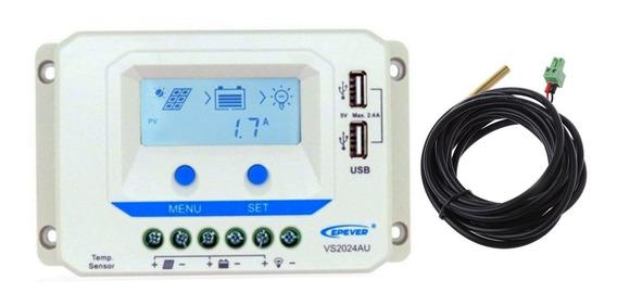 Controlador De Carga Solar Pwm Epever 20a 12v/24v + Sensor