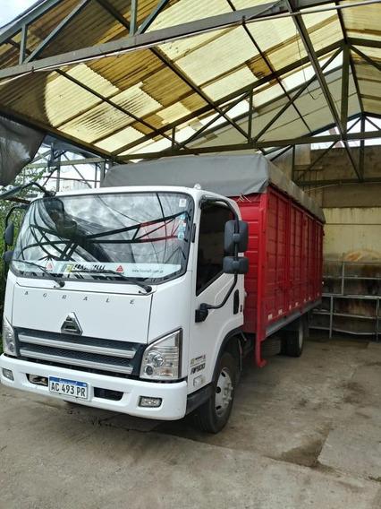 Camion Agrale 7500 Mod2018 Blanco, Caja Rojo16mil Km