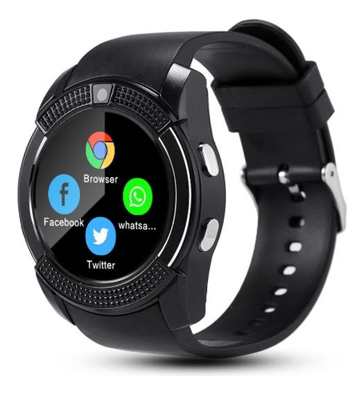 Relógio Smart Watch V8 Bluetooth Câmera Chip Cartão Sd