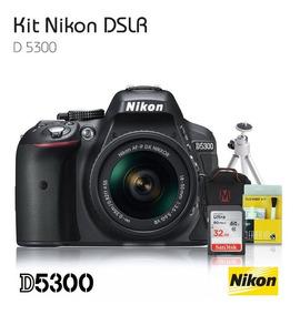 Nikon D5300 Lente 18-55+kit Limpeza+cartao 32gb+bolsa+tripé