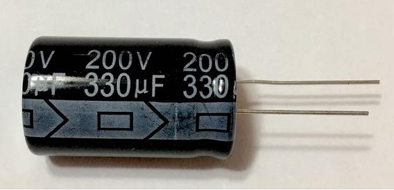 3 Pc Capacitor Eletrolitico 330uf X 200v * 105ºc + Brinde