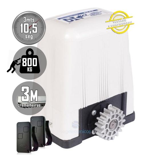 Kit Motor De Portão Deslizante 1/3hp Dz4 Turbo Rossi 800kg