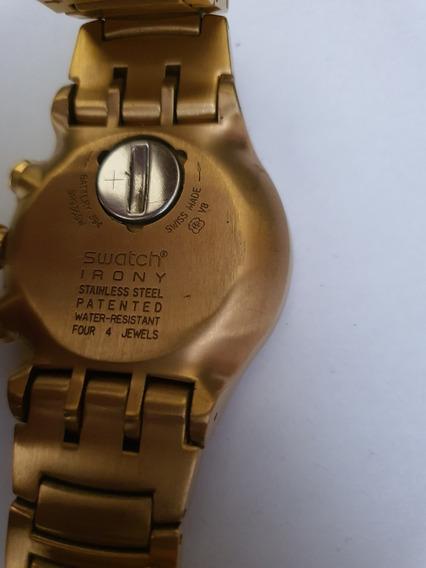 Raro Relógio Swatch - Dourado - Impecável