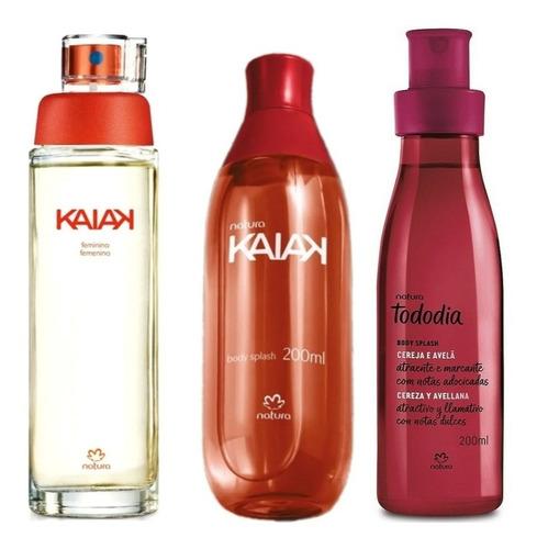 Perfume Kaiak Clásica Con Spray + Spray Cereza Y Avellanas