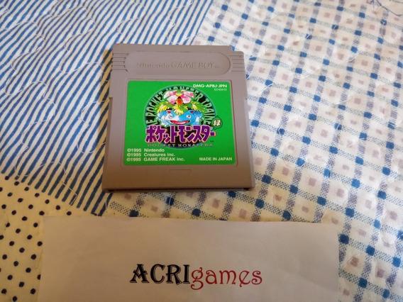 Cartucho Game Boy Pokemon Green Japonês