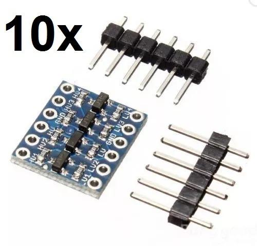 10x Conversor Nível Lógico Bidirecional I2c 5v -3,3v Arduino
