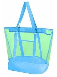 Malla Bolsa Para Playa 21 X16 Cielo Azul