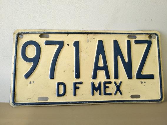 Placa Antigua Df Cdmx Matricula Carro Antiguo 70 Coleccion