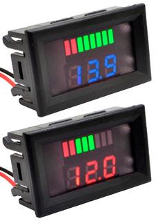 Voltímetro Digital Led 12v Dc Som Atumotivo Medidor Bateria